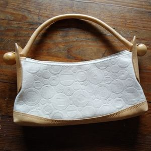 Furla canvas and leather small bag